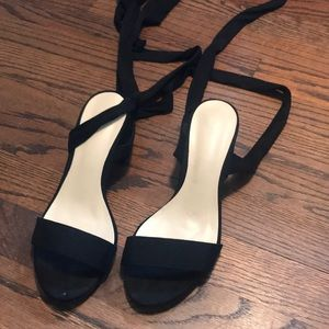 Homecoming black lace up heels size 6